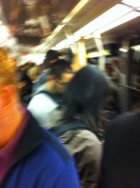 Jammed Together on Muni
