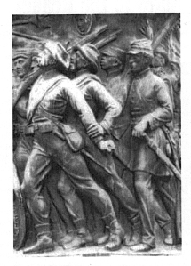 Confederate Memorial at Arlington National Cemetary design by Moses Ezekiel one of 12,000 Jewish Confederate soldiers, depicting one of over 300,000 African American soldiers fighting for the Confederacy.